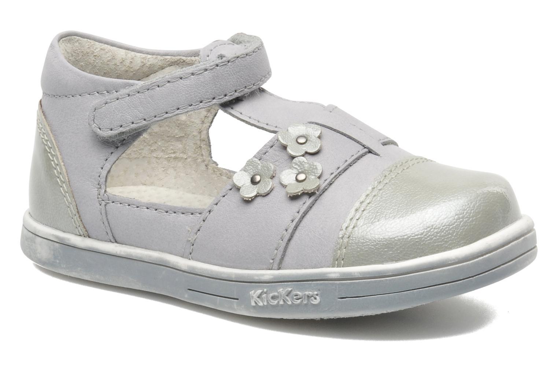 Zapatos con velcro Kickers TREFUN Gris vista de detalle / par