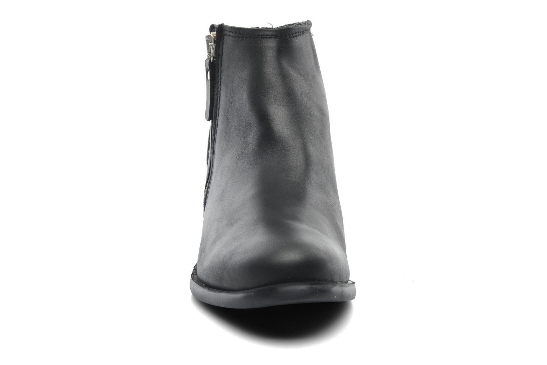 Stiefeletten & Boots Pieces Izi Short Leather Zipper Boot schwarz schuhe getragen