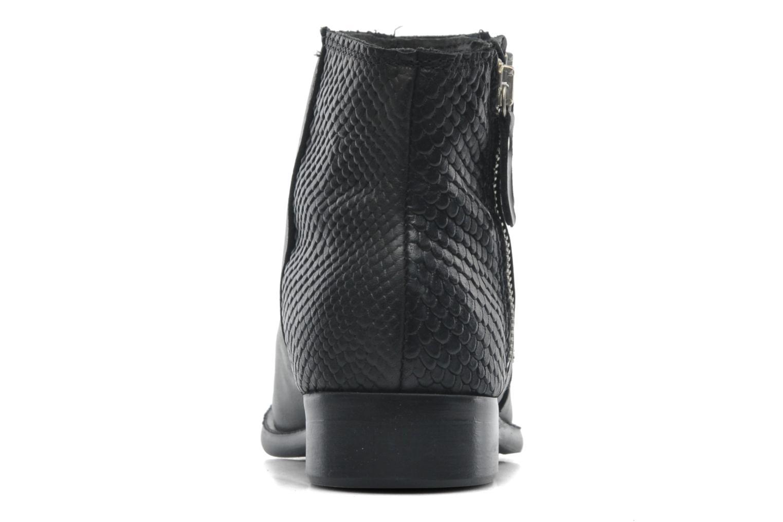 Stiefeletten & Boots Pieces Izi Short Leather Zipper Boot schwarz ansicht von rechts
