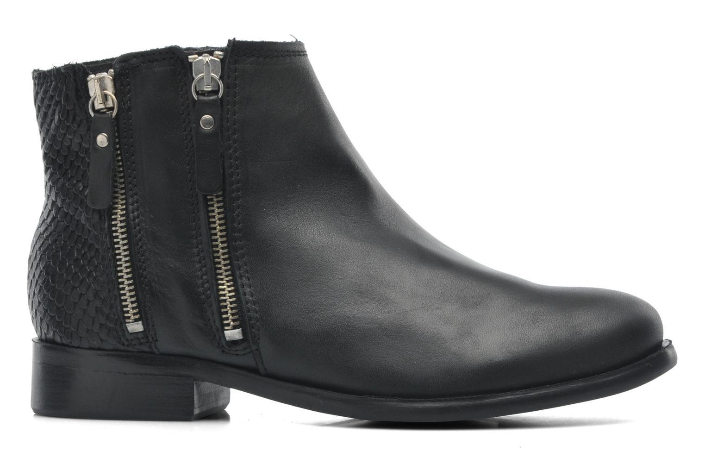 Stiefeletten & Boots Pieces Izi Short Leather Zipper Boot schwarz ansicht von hinten