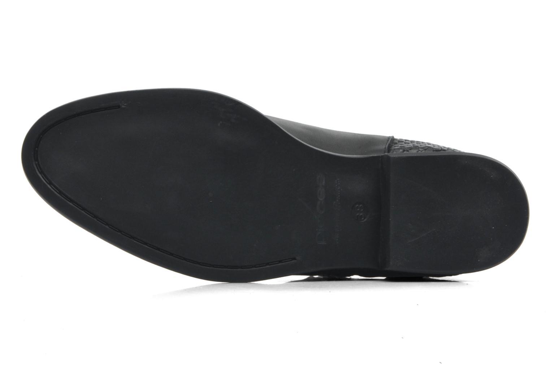 Stiefeletten & Boots Pieces Izi Short Leather Zipper Boot schwarz ansicht von oben