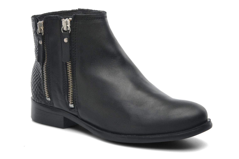 Stiefeletten & Boots Pieces Izi Short Leather Zipper Boot schwarz detaillierte ansicht/modell