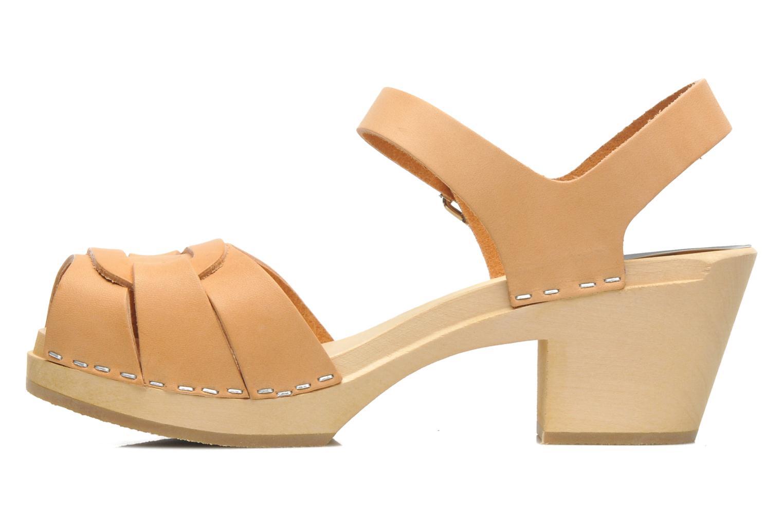 Sandales et nu-pieds Swedish Hasbeens Peep Toe High Beige vue face