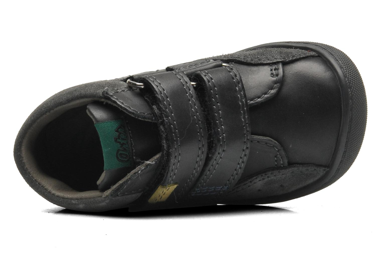 Chaussures à scratch Aster Pavel Noir vue gauche