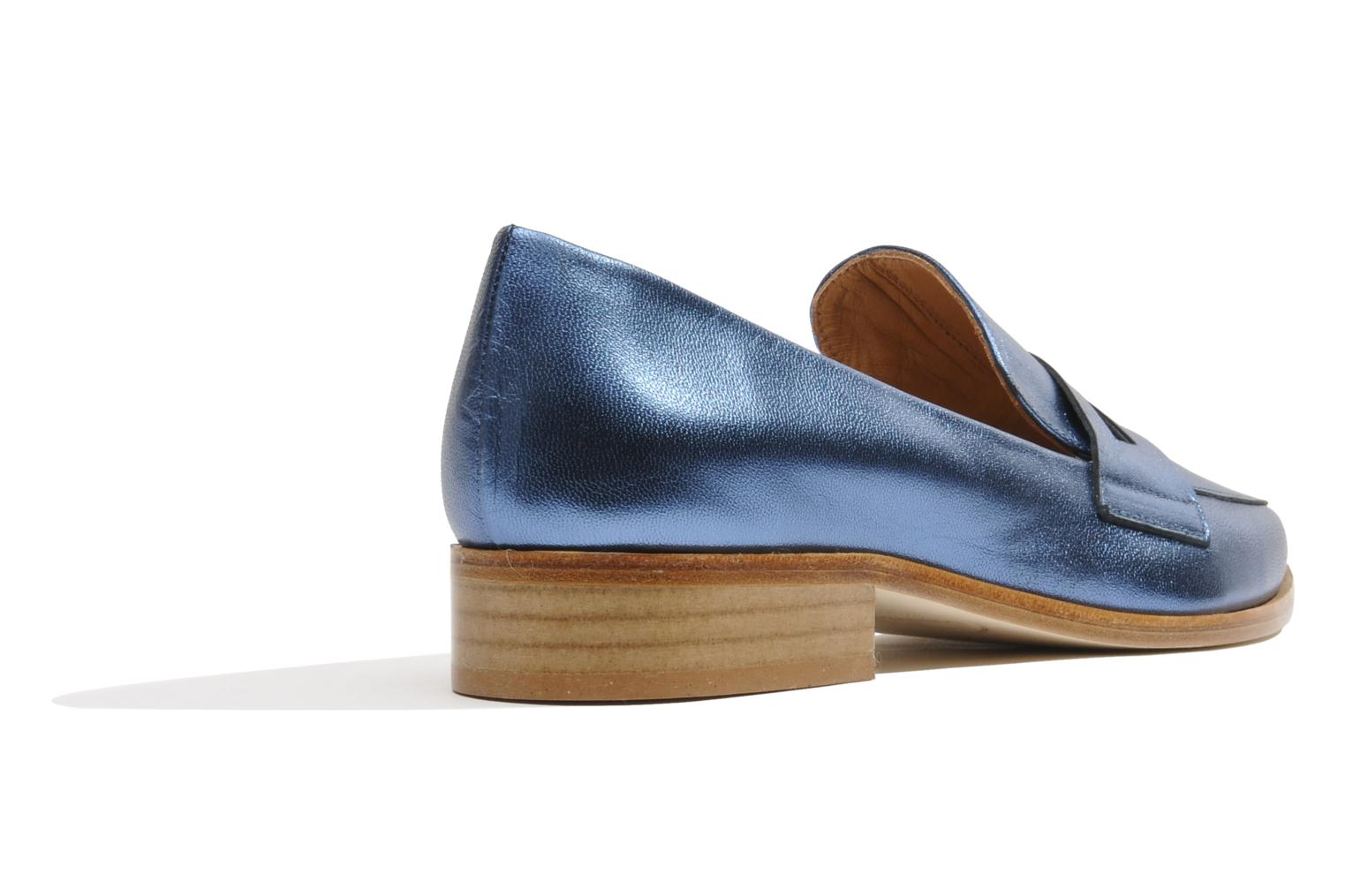 90's Girls Gang Mocassins #3 Blue jean laminado