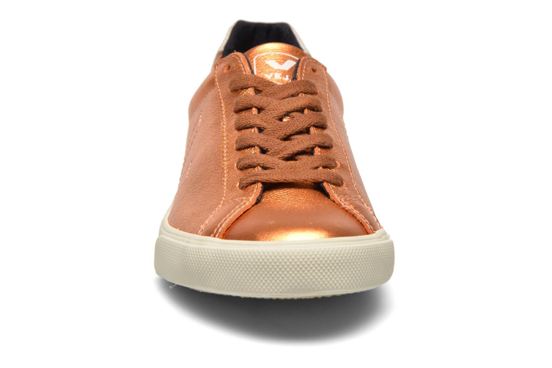 Baskets Veja Esplar Cuir W Or et bronze vue portées chaussures