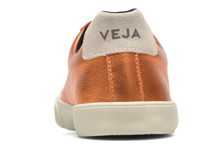 Baskets Veja Esplar Cuir W Or et bronze vue droite