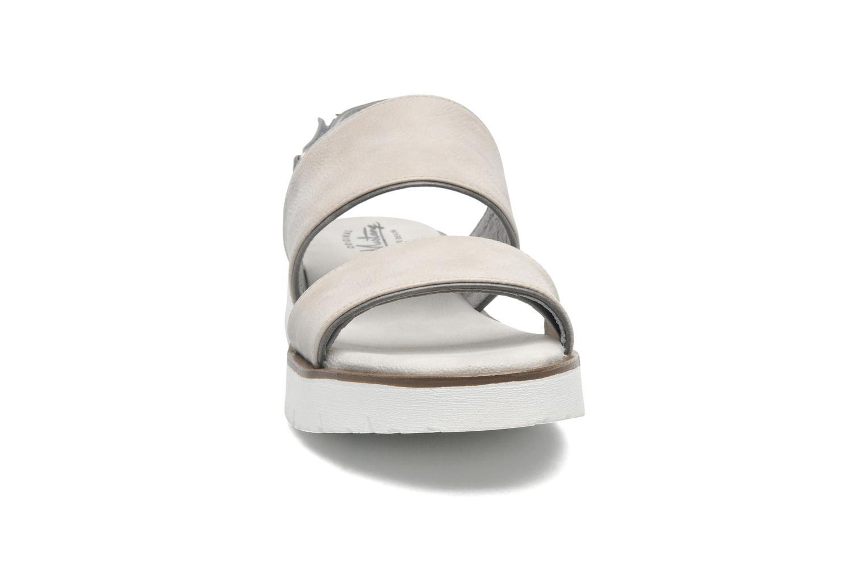 Sandalen Mustang shoes Morod grau schuhe getragen
