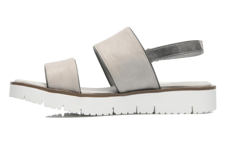 Sandalen Mustang shoes Morod grau ansicht von vorne