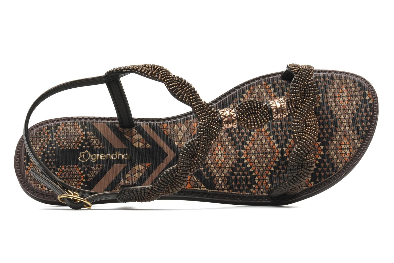 Sandales et nu-pieds Grendha Tribale Sandal Marron vue gauche