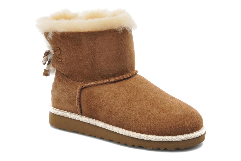 Bottines et boots UGG K SELENE Marron vue détail/paire