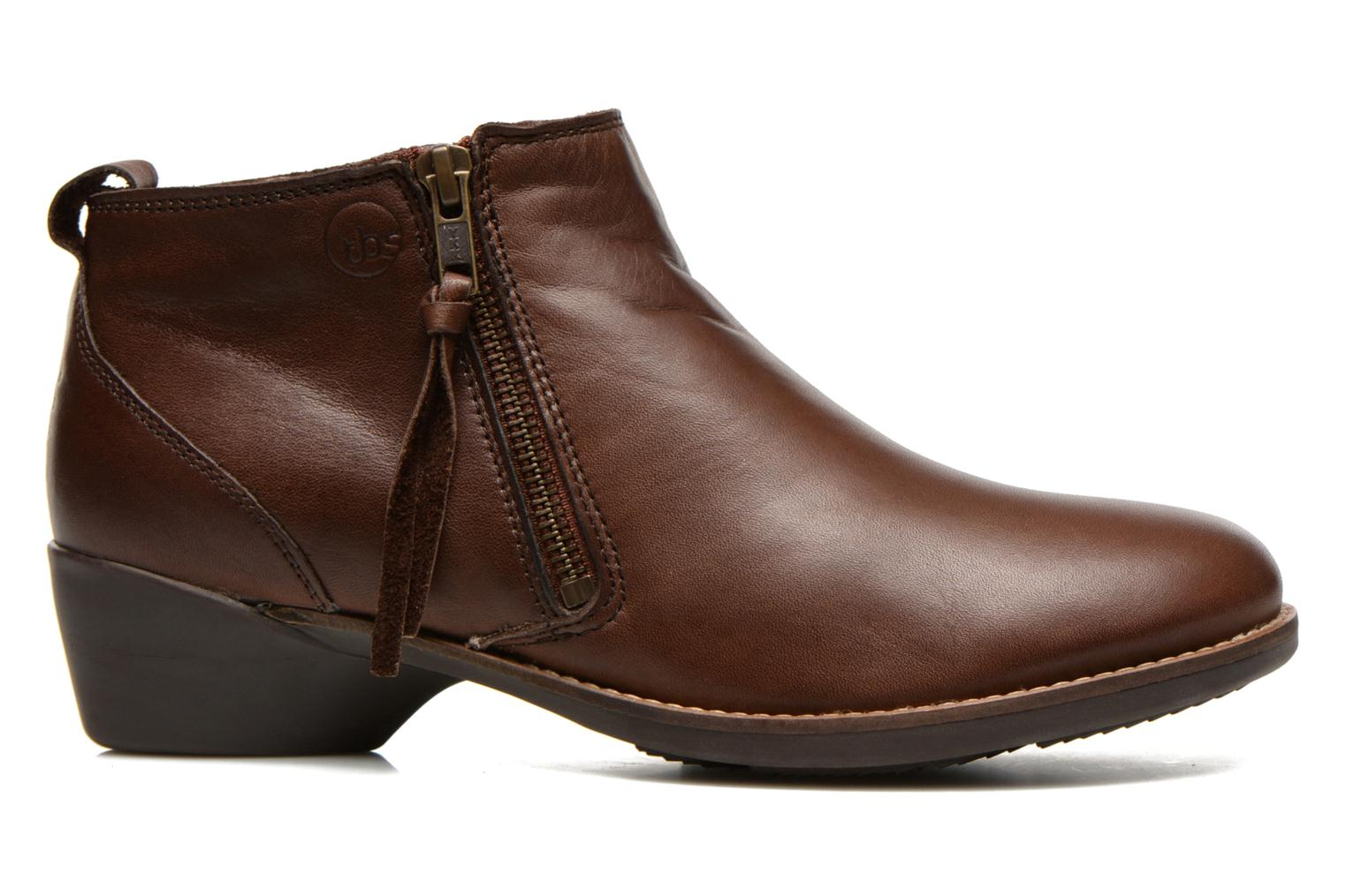 Ankle boots TBS Girlye Brown back view