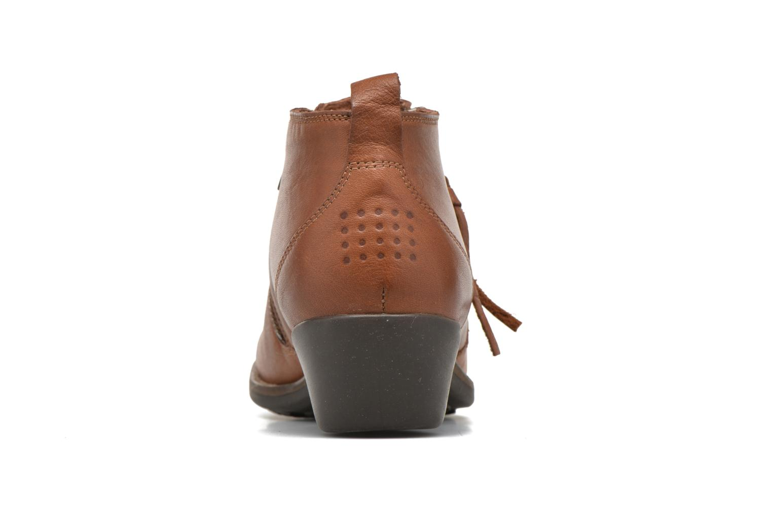 Ankle boots TBS Girlye Brown view from the right