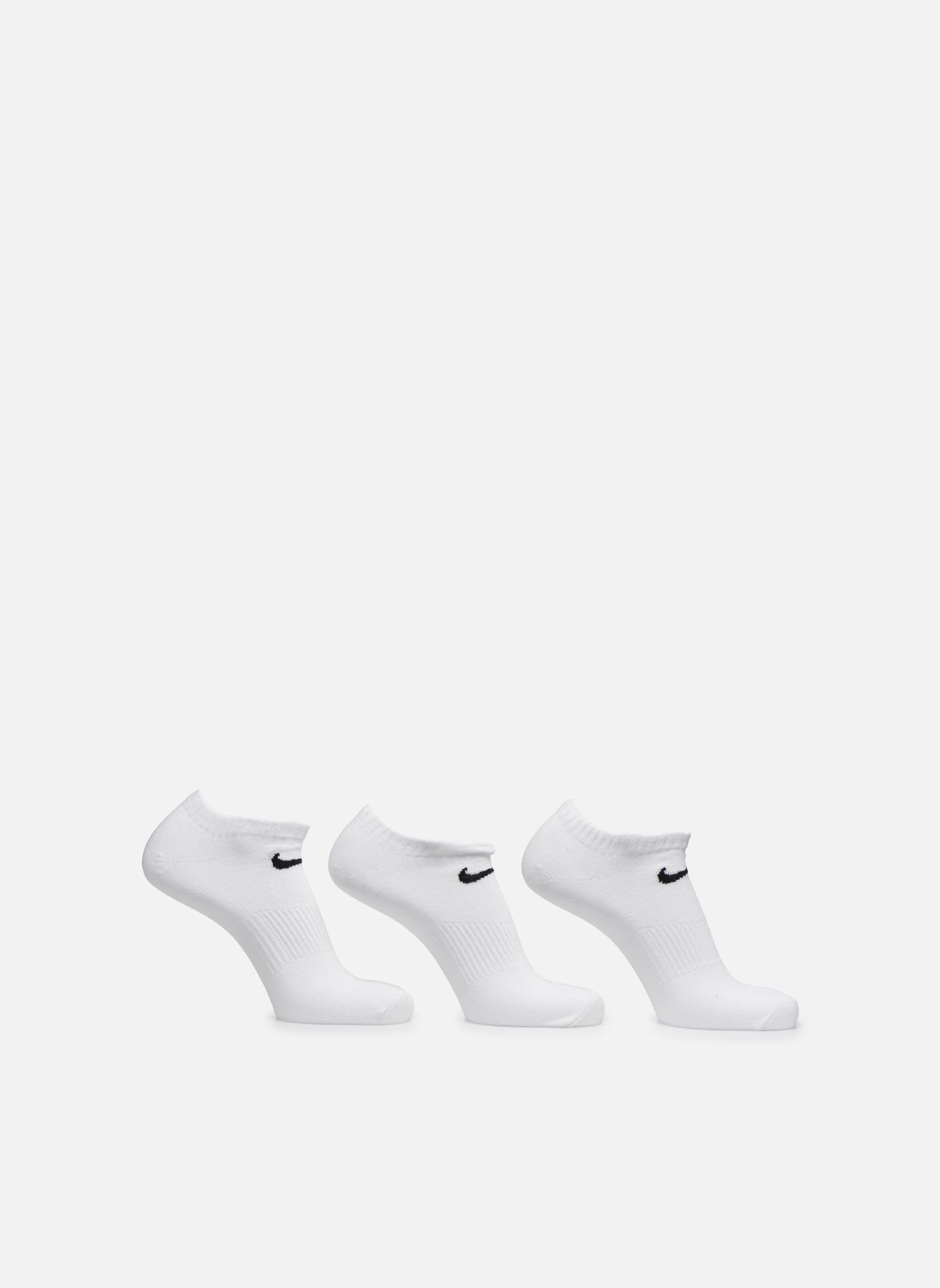 Strømper og tights Nike (3 par) Invisible Nike ankelstrømper Hvid detaljeret billede af skoene