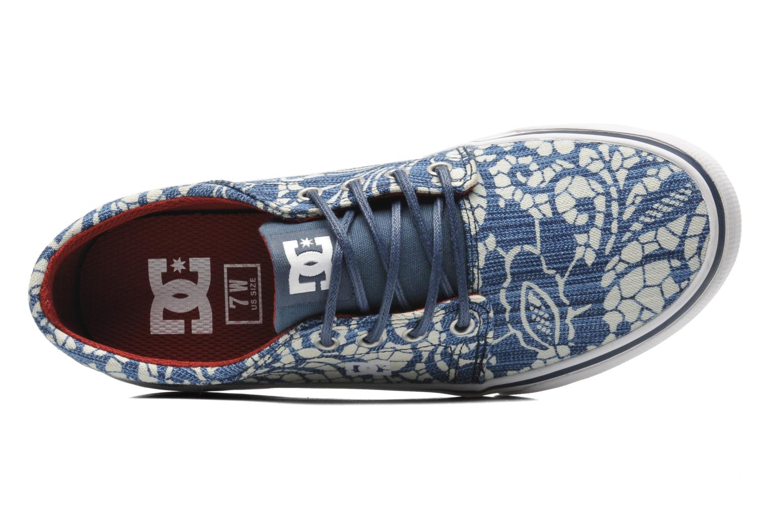Sneaker DC Shoes Trase Tx Se W blau ansicht von links