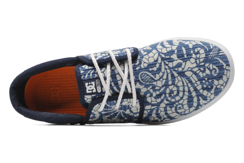 Sneaker DC Shoes Haven Tx Se W blau ansicht von links