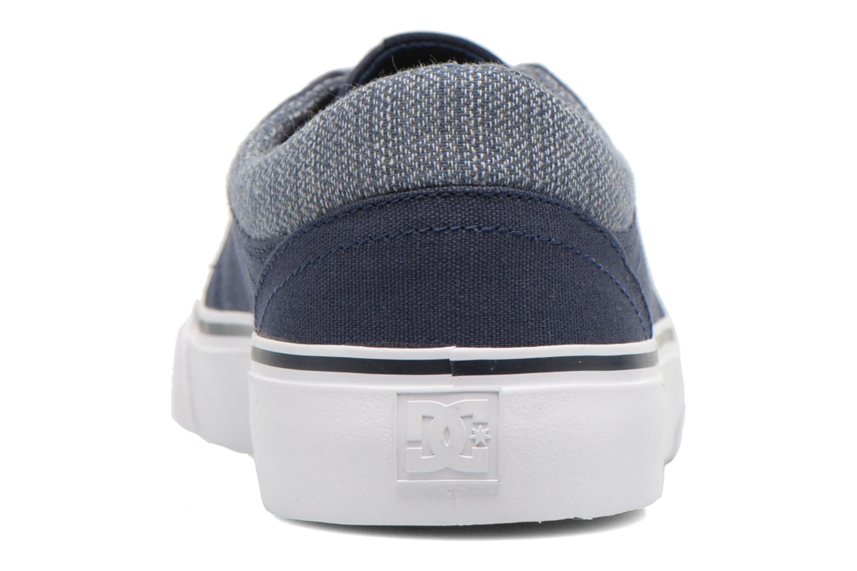 Baskets DC Shoes TRASE TX SE Bleu vue droite