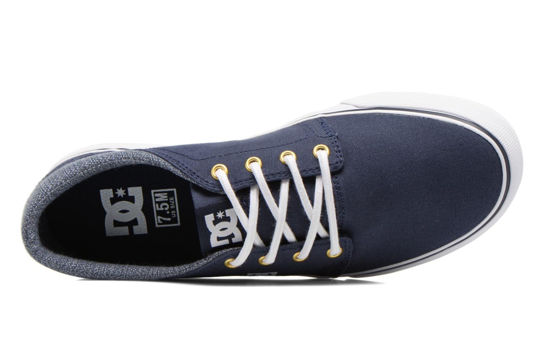 Baskets DC Shoes TRASE TX SE Bleu vue gauche