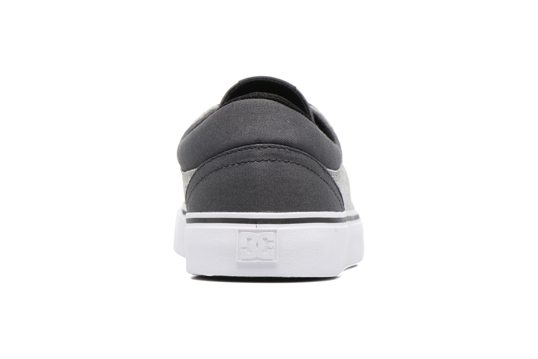 Baskets DC Shoes TRASE TX SE Gris vue droite