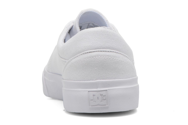 Sneaker DC Shoes Trase Tx weiß ansicht von rechts