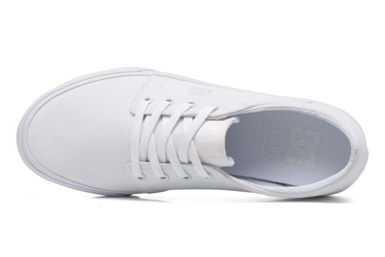 Sneaker DC Shoes Trase Tx weiß ansicht von links