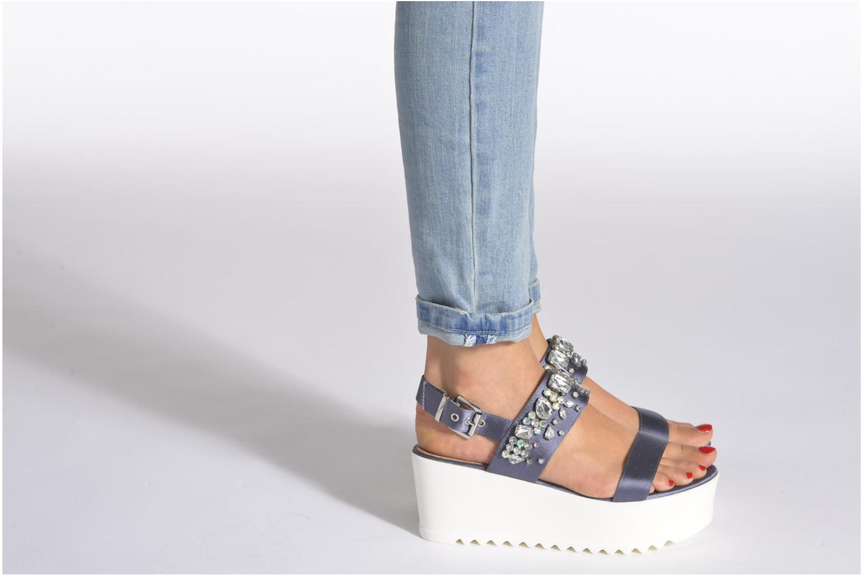 Sandales et nu-pieds Steve Madden GLITZ Bleu vue bas / vue portée sac