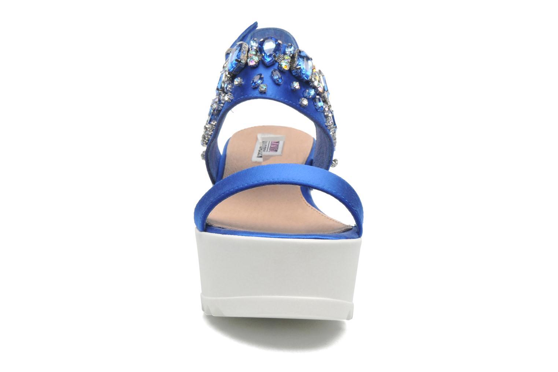 Sandales et nu-pieds Steve Madden GLITZ Bleu vue portées chaussures