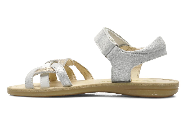 Sandales et nu-pieds Naturino SARA 3952 Argent vue face