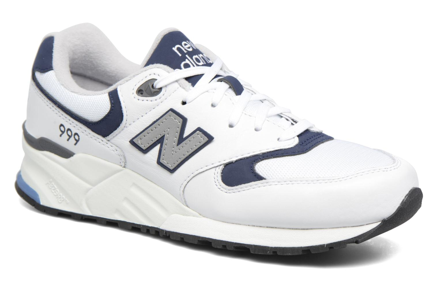 Baskets New Balance ML999 Blanc vue détail/paire