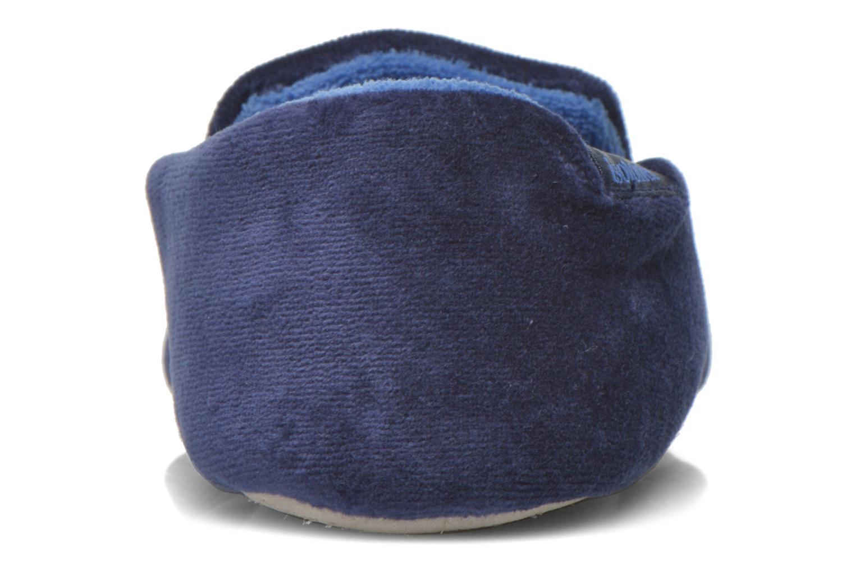 Pantoffels Isotoner Charentaise Velours Brodée Blauw rechts