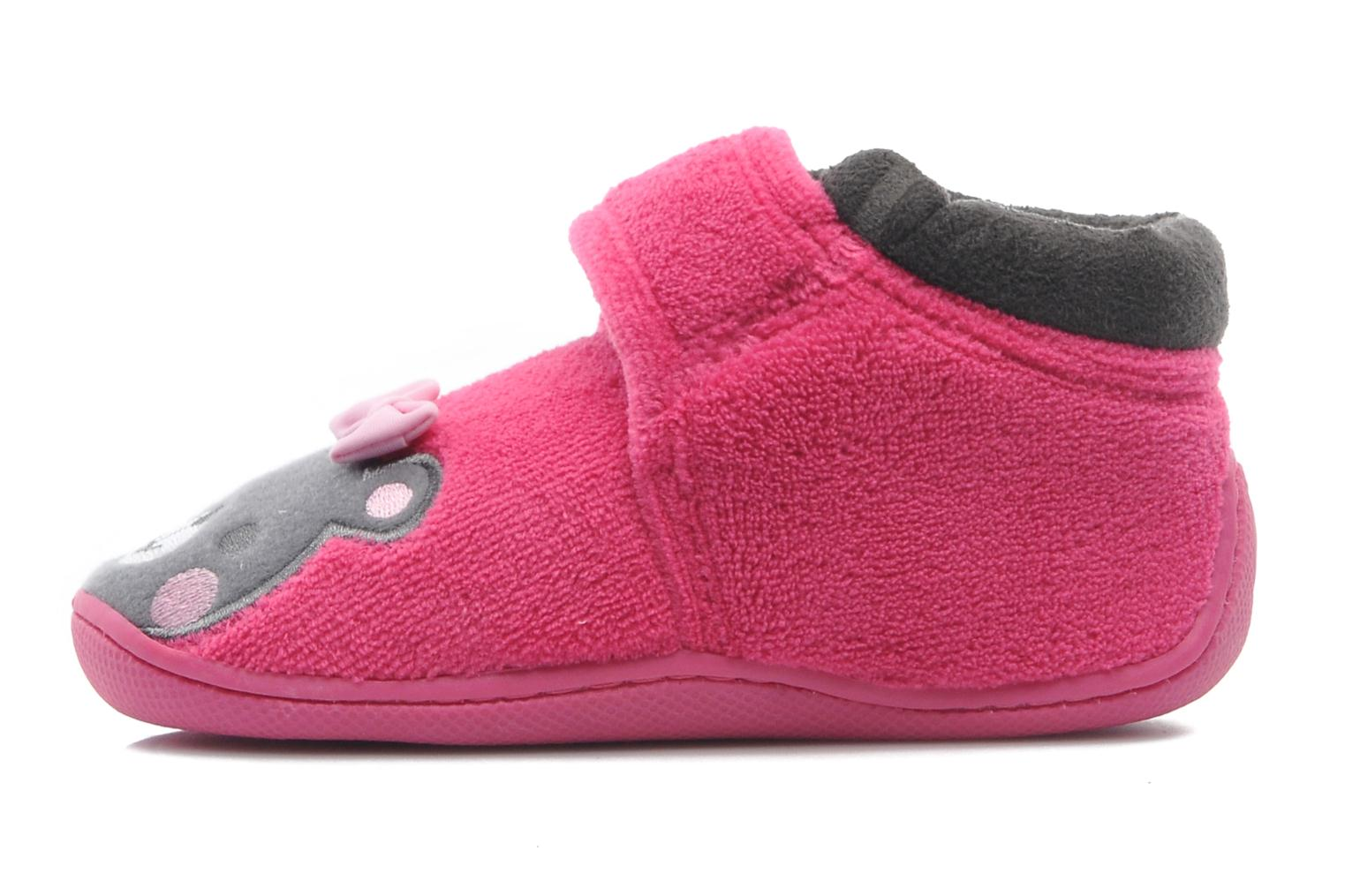 Bottillon velcro micro-éponge Rose