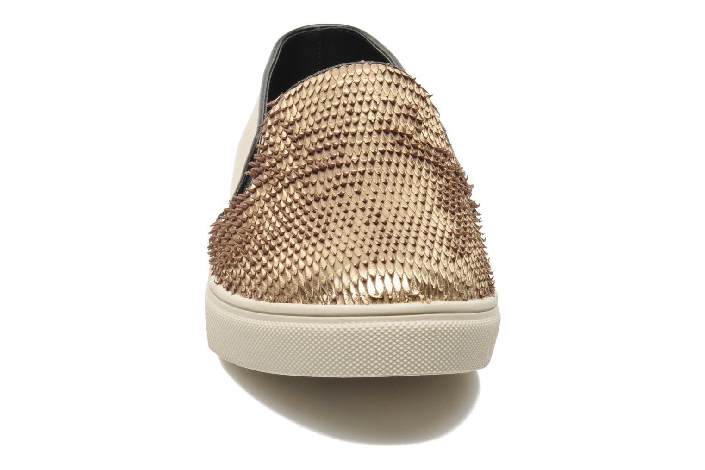 Baskets Steve Madden ECENTRICG Or et bronze vue portées chaussures