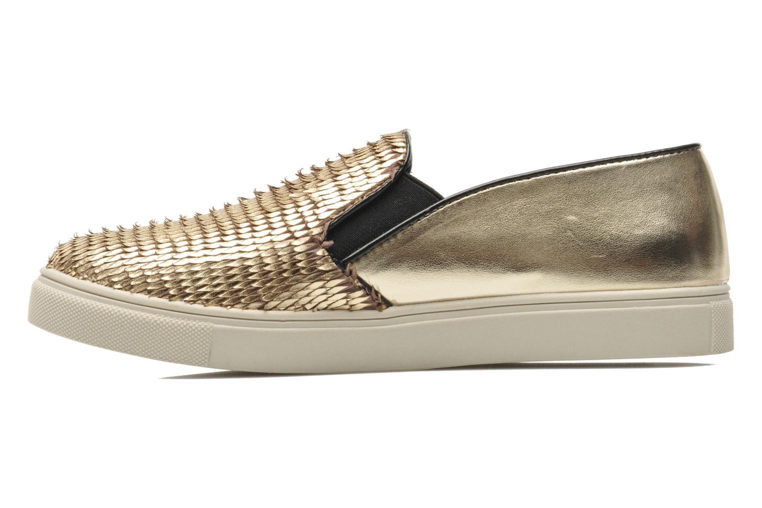 Trainers Steve Madden ECENTRICG Bronze and Gold front view