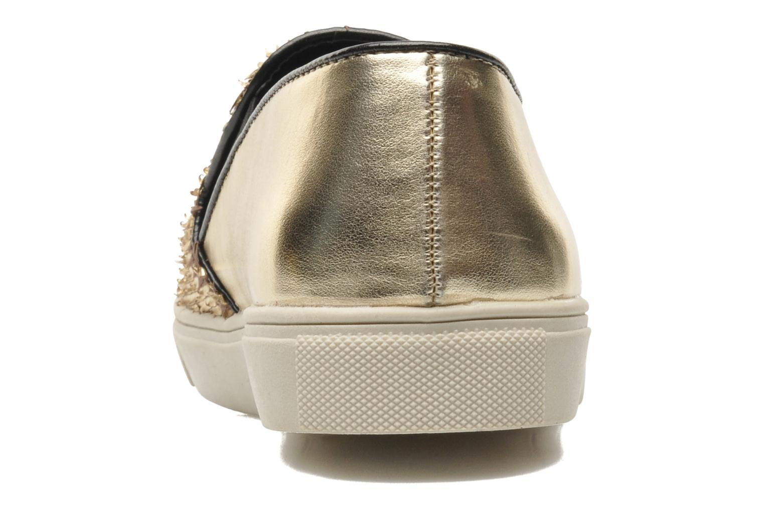 Trainers Steve Madden ECENTRICG Bronze and Gold view from the right