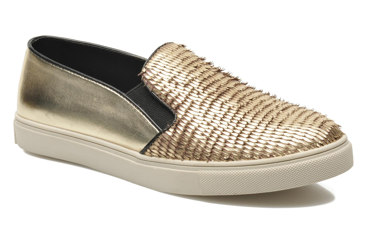 Trainers Steve Madden ECENTRICG Bronze and Gold detailed view/ Pair view
