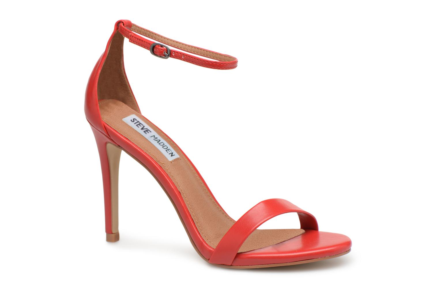 Sandals Steve Madden Stecy Sandal Red detailed view/ Pair view