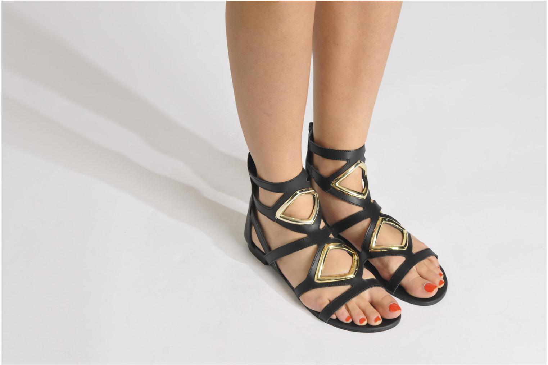Sandales et nu-pieds Steve Madden TELLY Noir vue bas / vue portée sac