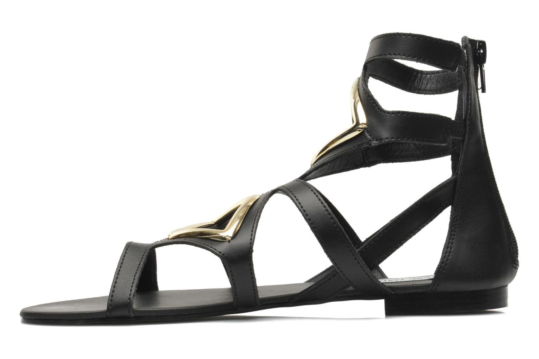 Sandales et nu-pieds Steve Madden TELLY Noir vue face