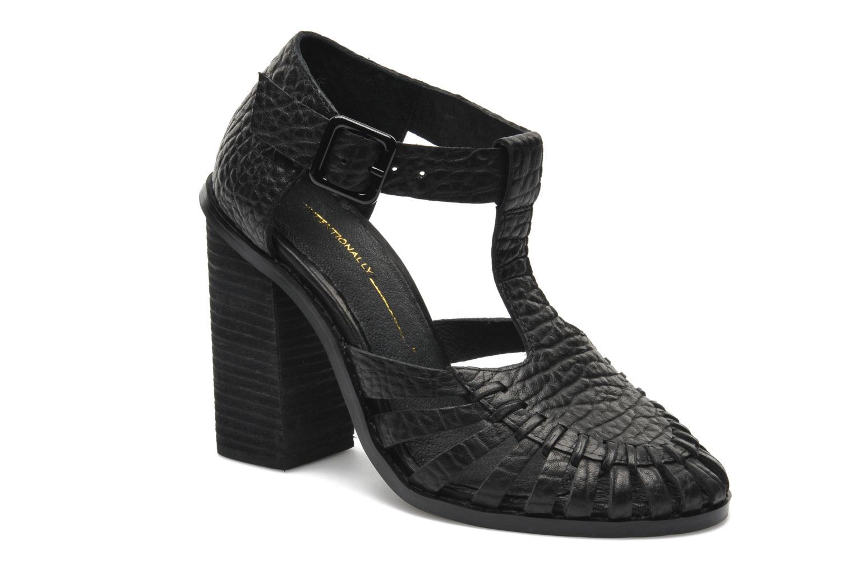 Sandales et nu-pieds Intentionally blank Tilted Noir vue détail/paire