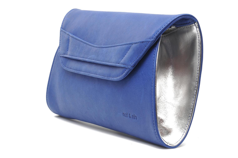 Sacs pochettes Nat & Nin Bastille Day Bleu vue portées chaussures