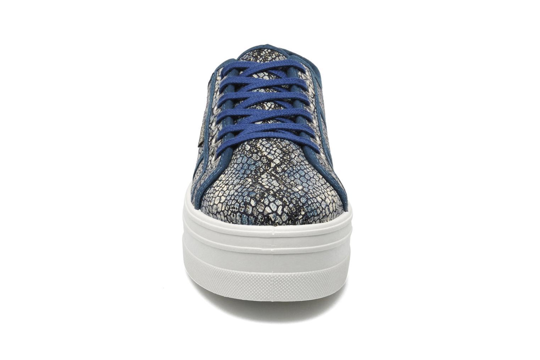 Baskets Victoria Blucher Lona Reptil Plataforma Multicolore vue portées chaussures