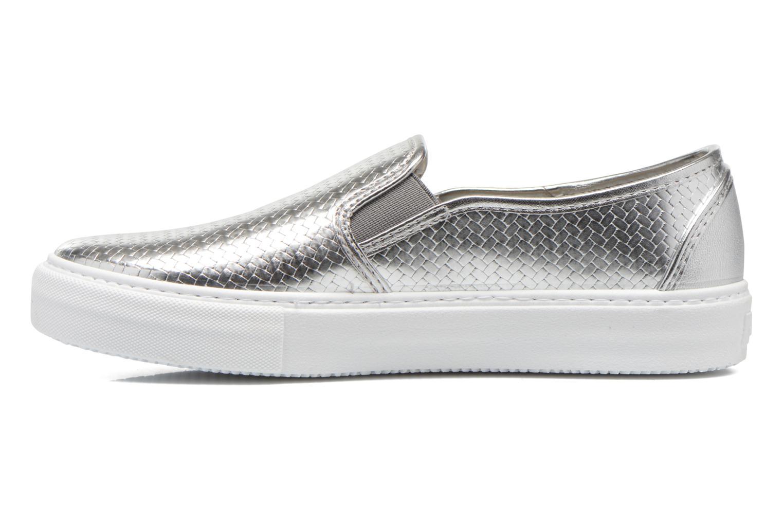 Sneaker Victoria Slip-on Metalizada silber ansicht von vorne