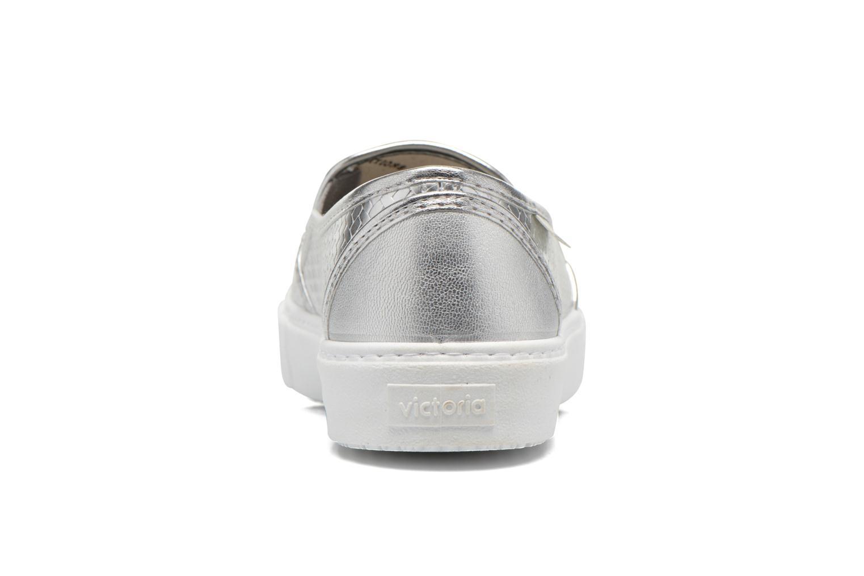 Sneakers Victoria Slip-on Metalizada Sølv Se fra højre
