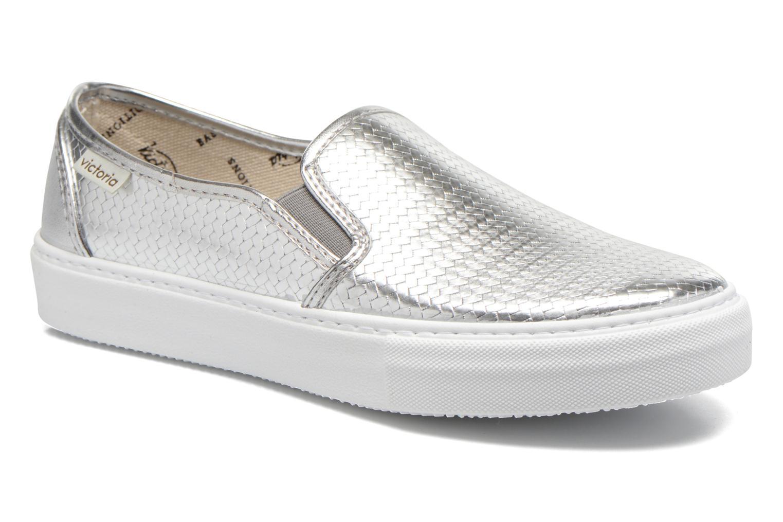 Sneakers Victoria Slip-on Metalizada Zilver detail