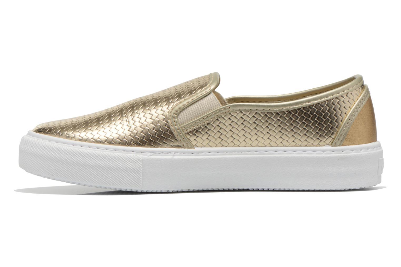 Sneaker Victoria Slip-on Metalizada gold/bronze ansicht von vorne