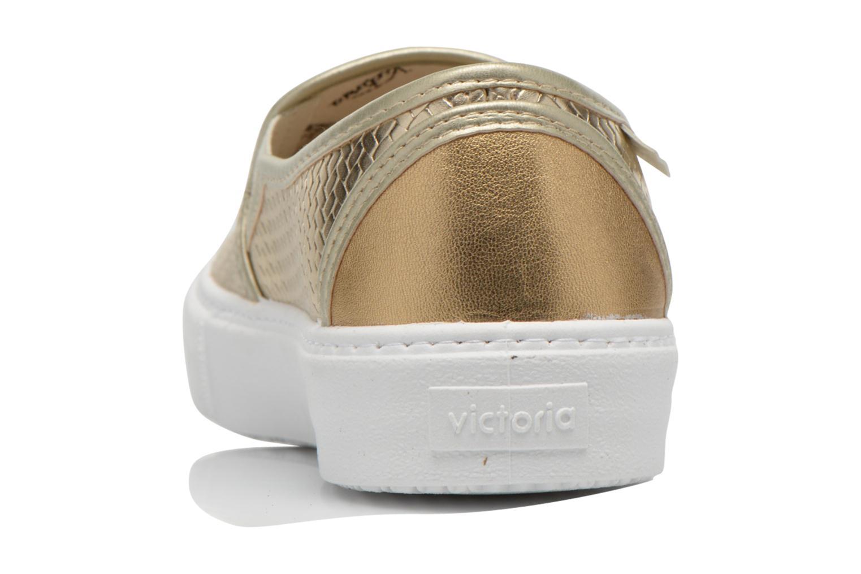 Sneakers Victoria Slip-on Metalizada Oro e bronzo immagine destra
