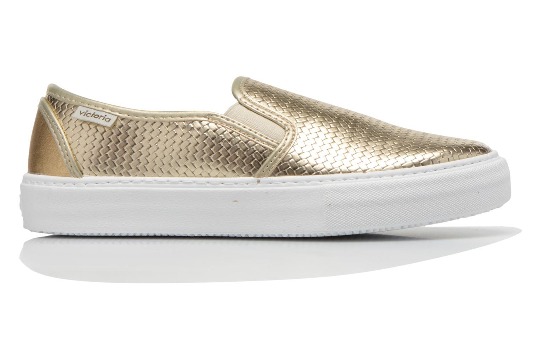 Sneakers Victoria Slip-on Metalizada Goud en brons achterkant