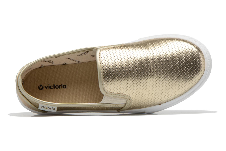 Sneaker Victoria Slip-on Metalizada gold/bronze ansicht von links