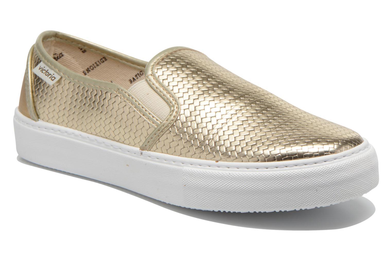Sneakers Victoria Slip-on Metalizada Goud en brons detail