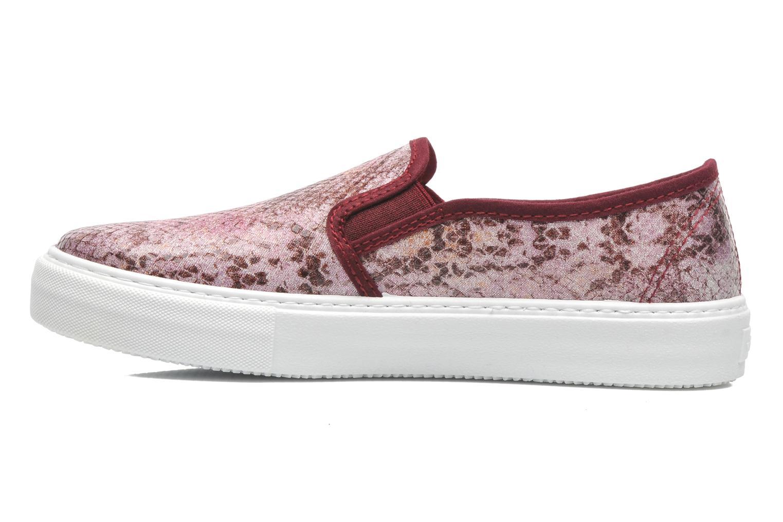 Sneaker Victoria Slip-on Reptil Metalizado rosa ansicht von vorne